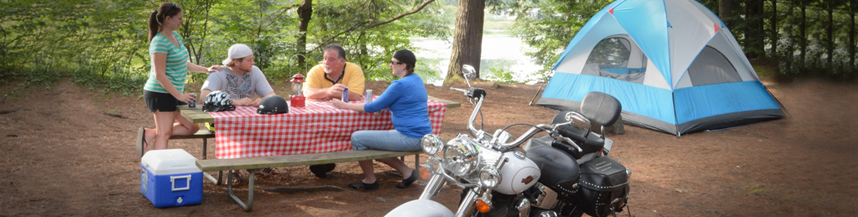 Family Camping Motorcycle