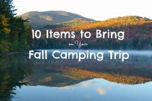 things to bring fall camping