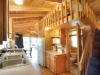 Cabin Kitchen and loft