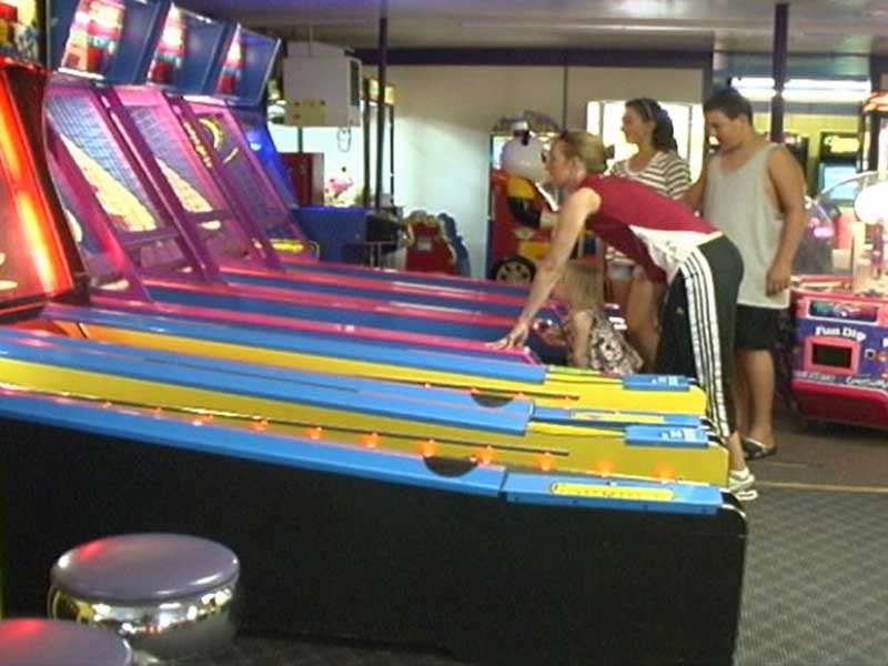 Skee-ball in our arcade