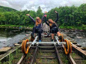 Railbiking across the Hudson